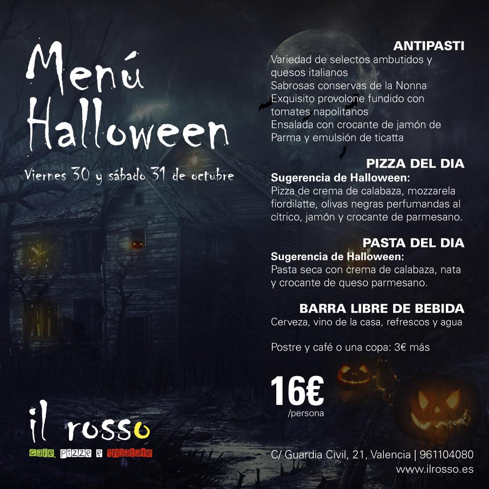 Halloween en il rosso viernes 30 y s bado 31 octubre for Il rosso bologna menu