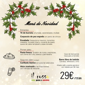 Menu Navidad Il Rosso 29€